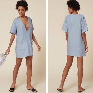 Reformation linen blend dress m medium